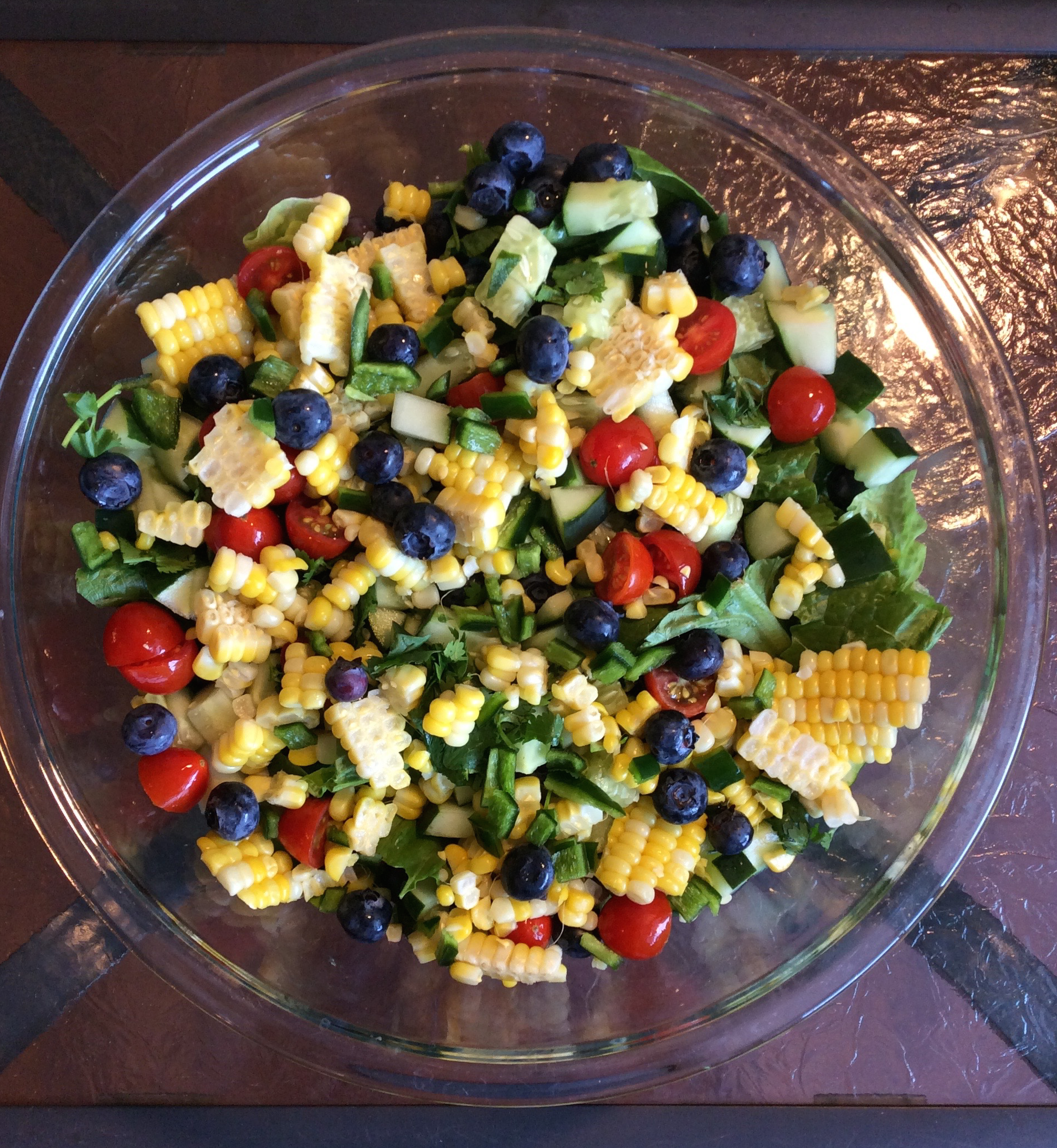 Blueberry and Corn Salad | The Juicing Nutritionist